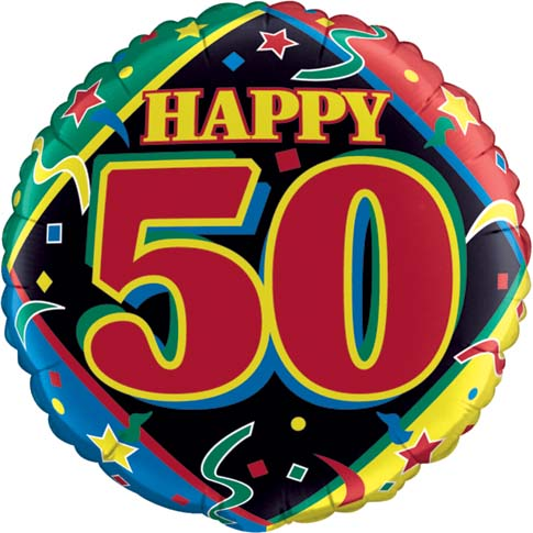 New 50th Birthday Balloon