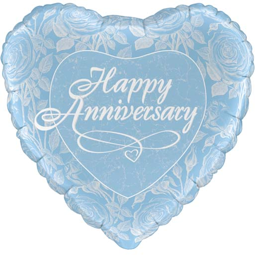 Blue Anniversary Heart