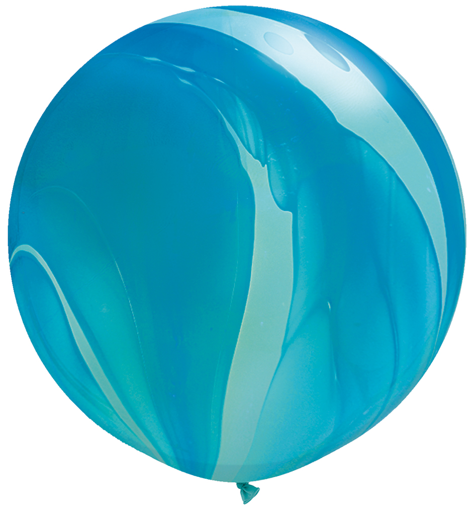 Colored Blue Balloon