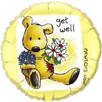 Get Well Soon - Yellow Balloons