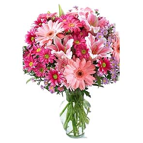 Affectionate Serenity Birthday Pink Bouquet