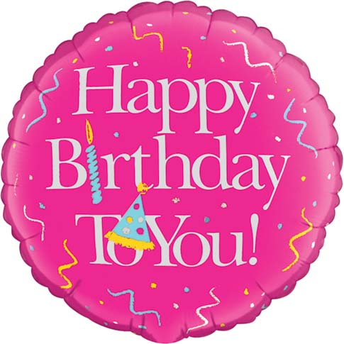 Pink Birthday Foil Balloons