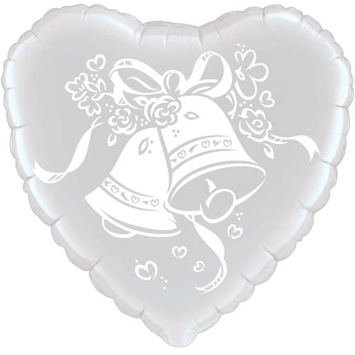 Wedding Bells Heart Balloon